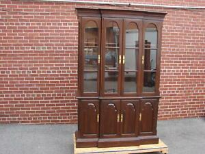 Ethan Allen Georgian Court Cherry China Cabinet