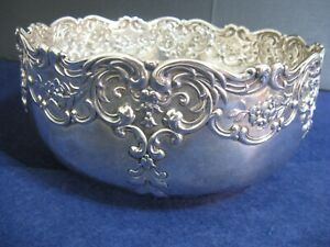 Lovely Whiting Sterling Repousse Large Bowl 3100 7 3 4 Wide And 3 1 2 Tall