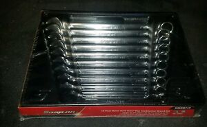 New Sealed Snap on 10 19 Mm 12 point Box Flank Drive Plus Wrench Set Soexm710