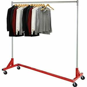 Simple Houseware Commercial Z Base Garment Rack Red Red