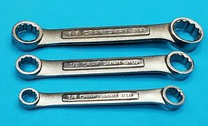 Classic Craftsman Vv V Box End 3 Wrench Set 12 Point Sae Free Shipping