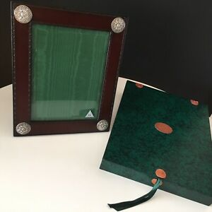 Vintage Leather Sterling Silver William George Ltd Photo Frame Presentation Box