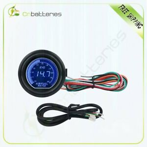 Bright Led Digital Blue Light Wideband Gauge Afr Air Fuel Ratio 2 52mm 6258 7