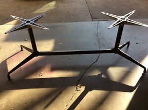 Vintage Herman Miller Eames Segmented Aluminum Black Table Base