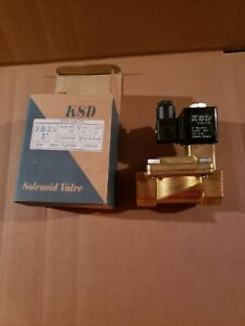1 110 Vac Volt Ac Electric Brass Solenoid Valve Water Gas Air