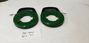 2 piece Greenlee 66 77 X 1 8 Steel Fish Tape Wire Cable Puller Tools Used