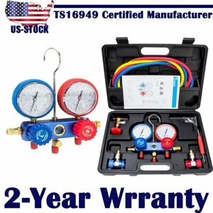 Air Conditioner Refrigeration Kit Ac Manifold Gauge Set For R134a R404a R410a Us