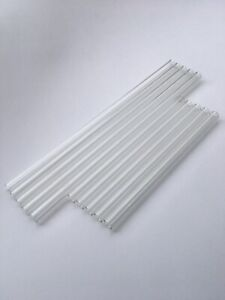 Set Of 10 Pieces Pyrex Glass Tubes 5pc 12 5 8 Long 12mm Od 8mm Id 2mm Thick