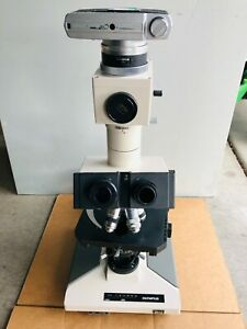 Olympus Bh 2 Bhs Microscope Bh2 With 4x 10x 50x 100x S Plan Objectives