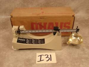 I31 OHAUS RELOADING POWDER MEASURE SCALE MODEL 505 WITH BOX