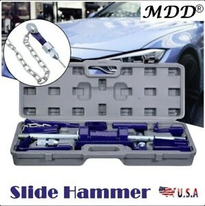 18x Slide Hammer Dent Puller 13lbs Auto Body Dent Repair Bearing Axel Removal Us