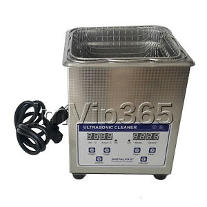 Ultrasonic Cleaner Solution Bath Wash Parts Tools Cutter Jewelry Dental 100 120v