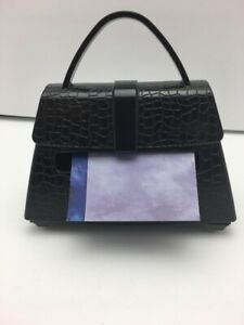 Black Purse shaped Post it Note Holder For 3 X 3 Pop up Notes 3m Brand