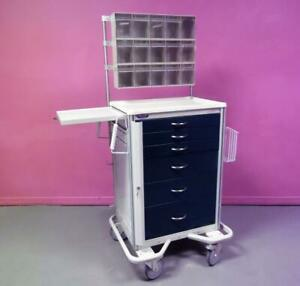 Armstrong A smart 6 Dwr Emergency Code Crash Cart Medical Surgical Cabinet Stand
