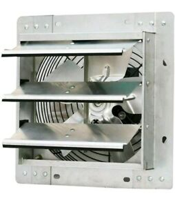 Shutter Exhaust Fan 10 In Automatic Explosion Proof Garage Cool Air Blades