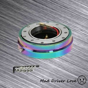 6 hole Steering Wheel 1 click Pin 1 5 Quick Release Hub Adapter Kit Neo Chrome