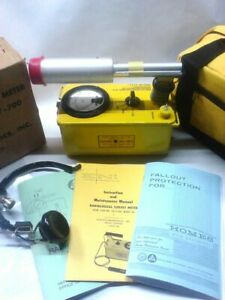 1 Of 300 Made Rebuilt radiation Detector Eni 6bm Cdv 700 Geiger Counter life War