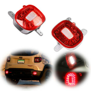 For Jeep Renegade 2015 2018 Led Tail Bumper Lamp Rear Fog Light 2pcs