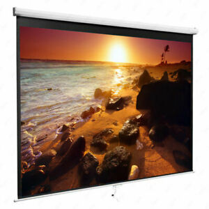 84 Inch 16 9 Manual Pull Down Projector Projection Screen Home Theater Movie