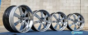 22 Hre 948 Wheels 5x112 Staggered 9 5 27 10 21 Bentley Center Caps