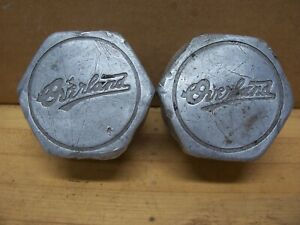 2 Vintage Willys Overland Car Axle Wheel Hub Grease Cap Dust Cover Hubcap