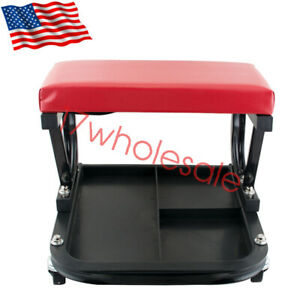 Car Repair Roller Seat Padded Auto Workshop Bench Vehicle Tools Maintenance
