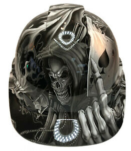 Custom Hydro Dipped Hard Hat Ridgeline Cap Style White Ace Of Skulls