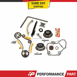 Timing Chain Kit Vct Selenoid Actuator Gear Cover Gasket For Gm Ecotec 2 2 2 4l