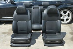 2011 Bmw 750 Front And Rear Seats Power W Comfort Seat Heated Leather Black Set