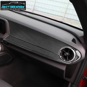 Chevy Camaro 2016 2020 Glossy Real Carbon Fiber Dashboard Panel Overlay 17 18 19