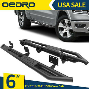 Oedro 6 Tri tube Armor Running Boards Fit For 2019 2021 Dodge Ram 1500 Crew Cab