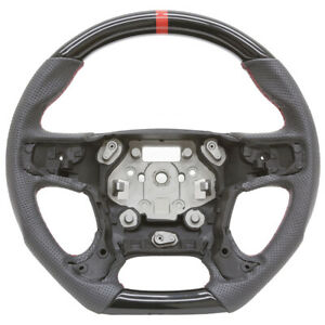 Handkraftd 15 16 17 18 19 Gmc Yukon Steering Wheel Gloss Black W Leather Fbsw