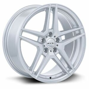 Four 4 18x8 Rtx Oe Stern Et 42 Silver 5x112 Wheels Rims