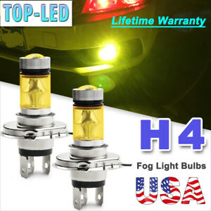 H4 9003 Hb2 3000k Yellow 100w Led Fog Driving Light Bulbs Drl Lamp Headlight Kit
