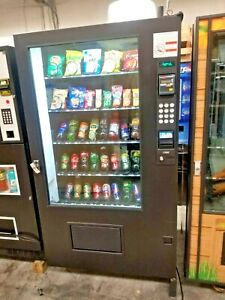 Ams Combo Vending Machine Sensit 3 With Usa Tech Credit Card Reader Please Read