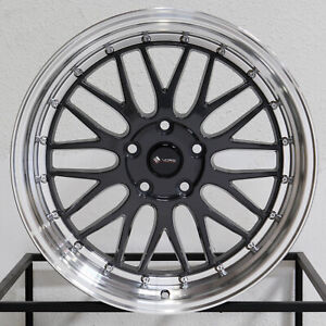 4 New 19 Vors Vr8 Wheels 19x8 5 19x9 5 5x120 35 35 Hyper Black Staggered Rims