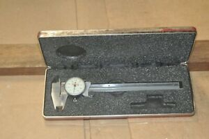 Starrett No 120 Stainless Steel Dial Caliper 0 6 001 Div With Case