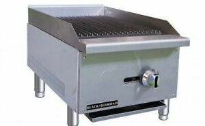 16 Char Broiler Radiant 1 Grill Commercial Restaurant Heavy Duty Nat Lp Gas New