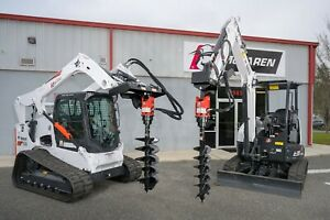 Skid Steer Auger Attachment 6 15 Gpm 2 Hex With 1 2 Hoses And Skid Steer Mount