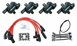 Performance Ls Ignition Coil Conversion Kit Plug Wire Set For 2004 11 Mazda Rx 8
