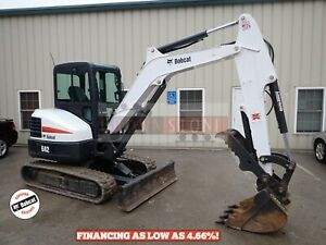 2015 Bobcat E42 Mini Excavator Cab Heat ac 2 Seepd Long Arm Thumb 42 7 Hp