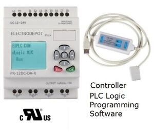 Plc Starter Kit Programmable Controller Analog Digital W Software Usb Interface