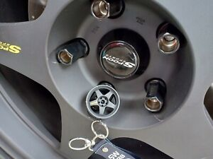 Genuine Sw388 Spoon Sports Wheels Keychain Honda Ek9 Dc2 Dc5 Eg6 Ef9 Jdm Typer