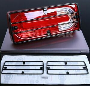 High Impact Black Rear Tail Light Protection Guard Grills 2x For Mercedes G W463