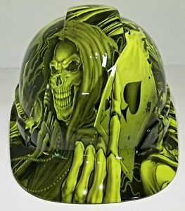 Cap Style Hard Hat Custom Hydro Dipped New Ace Of Skulls Aces High New