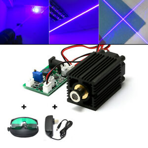 450nm 2w Focusable Blue Dot Line Cross Laser Diode Module Cooling Fan Ac Adapter