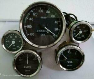 Smiths 52mm Kit Temp Oil Fuel Amp Gauge Speedometer Replica