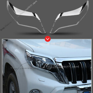 For Toyota Land Cruiser Prado J150 2014 2017 Car Front Headlight Lamp Cover Trim