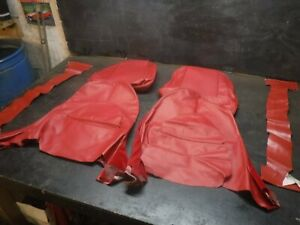 61 64 Jaguar Series 1 Xke Roadster Red Leather Bucket Seat Covers Upholstery Ots