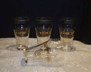Coca Cola lot 4 Vintage 1976 Olympic glasses Arabic Hebrew Japan Chinese letters